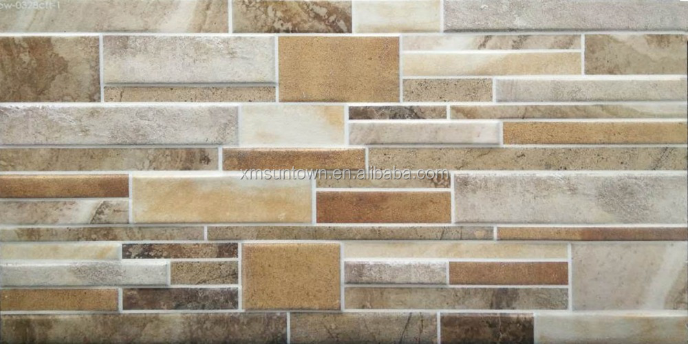 New Design Exterior Kajaria Wall Tiles 300x600mm Decorative Wall