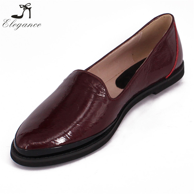 High Quality Unisex Shoes Casual Men Women Moccasin Footwear Deep Wine Patent Leather Low Cutter Formal Flats Slip On Loafers