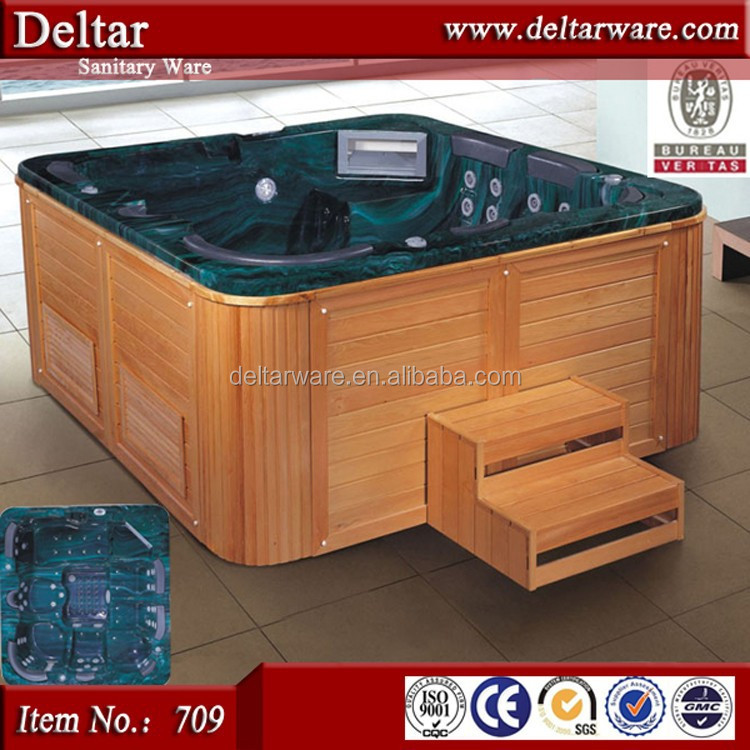 European Luxurious Big Size Massage Bathtub Bubble Spa