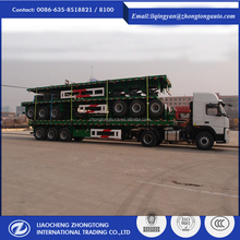 2 Axle 3 Axle 40ft 20ft New 40 Feet Flat Bed Truck Container Flatbed Semi Trailer For Sale