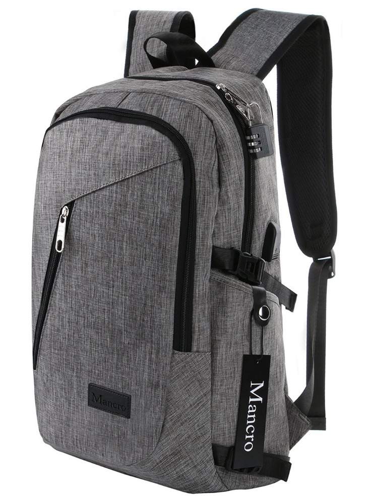 Business Polyester Laptop Backpack with USB Charging Port Under 17-Inch Laptop and Notebook