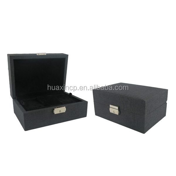Black Matt Wooden Watch Box, Rectangular Watch Case