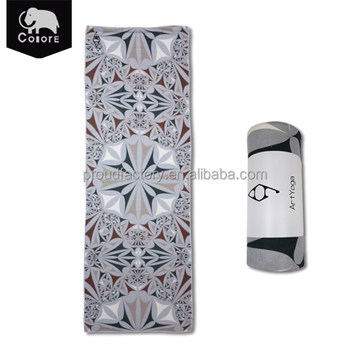 Factory wholesale custom cheap microfiber yoga mats towels for hot yoga