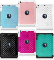 Hot Produc Studded Diamond Rubber Silicone Skin Hybrid Case For iPad Mini