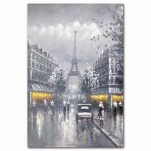 Reproduction interior wall Eiffel tower water colour and acrylic painting design