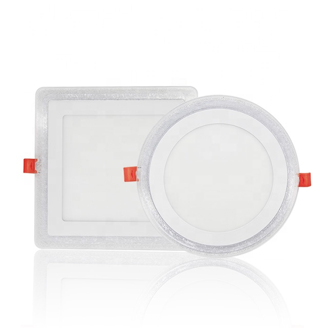Wholesale round square 3 + 3W recessed <strong>flat</strong> ceiling led double color panel light