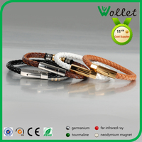 2015 High Quality Handmade Mens Leather Bracelet Wholesale