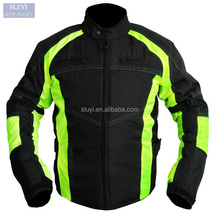 Winter jackets motorcycle racing long sleeve zip pocket up collar contrast color warm Reflective jacket motorcycle wear for men