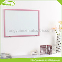 School supply Pink frame MDF magnetic writing board for children