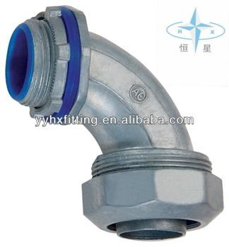 Liquid Tight Connector 90 Degree Angle Type (Zinc die casting)