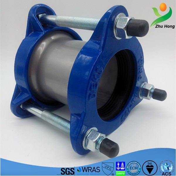 ZFJ EPDM/NBR rubber,ductile iron end ring pipe connection Ductile Iron Pipe Leak Repairing Clamp/Body Repair Pulling Clamp