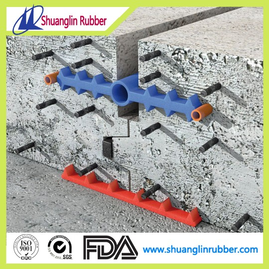Underground waterproofing rubber and PVC waterstop concrete expansion joints