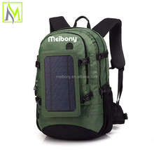 Large Capacity solar panel backpack waterproof Perfect for Phone charging