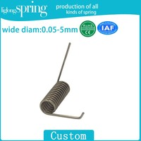 door handle torsion spring for door lock retaining clip