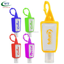 Promotion Gift Travel Portable 30ML Hand Sanitizer Gel With Silicone Holder