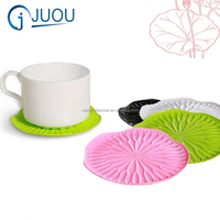 Home Lotus Leaf Silicone Table Cup Coaster Mat Round Drinks Tea Coffee Coasters Place Mat