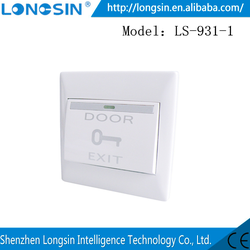 NO/NC optional wired push button door exit button