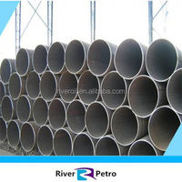 Full size API 5L black paint usefull LASW pipeline best factory price