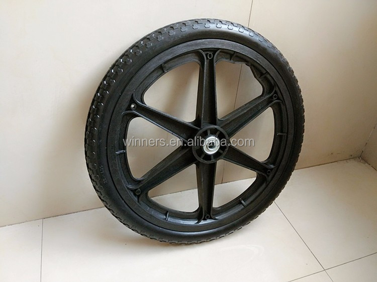 wholesales 20x1.95 PU foam solid tire wheel