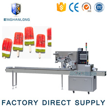 ice candy lolly pillow roll packaging filling and sealing horizontal flow packing machine
