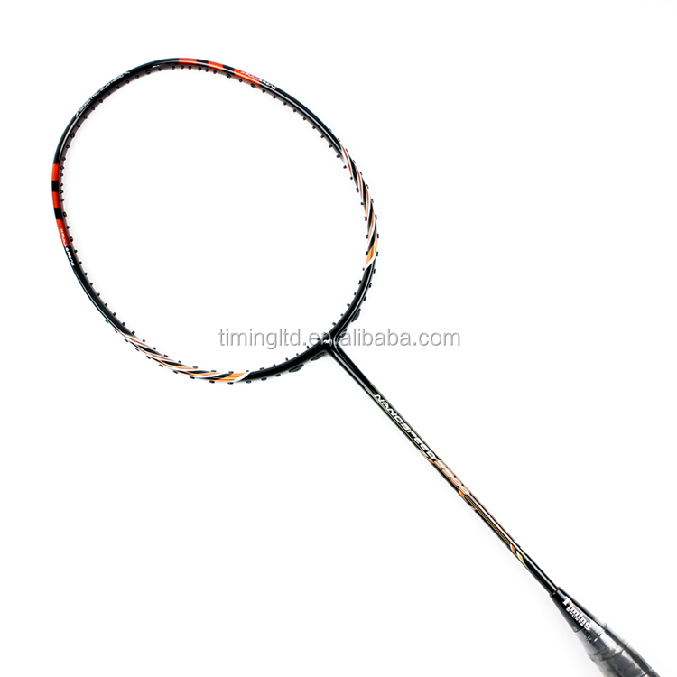 OEM graphite one-piece badminton racquet