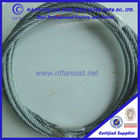 6x19+FC Ungalvanized steel wire rope for crane and lifting equipment