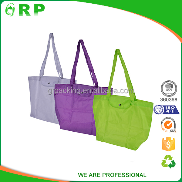 Environmental reusable eco-friendly lightweight nylon foldable shopping bag