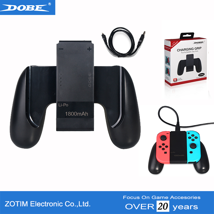 Charging Grip Holder For Nintendo Switch Joy-Con With Build-in 1800mAh Battery Pack