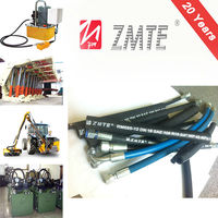 Hebei ZMTE R15 Lowest Price Best Quality steel Wire Reinforced high pressure hydraulic Rubber Hose and Hose Assembly