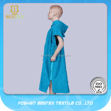 Kids pattern poncho towel baby robe hooded for a teen
