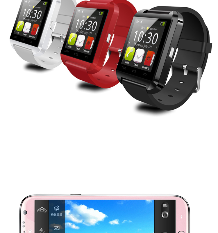 BT3.0 barometer multi language m8 wearable smartwatch, Capacitive touch 4g watch phone