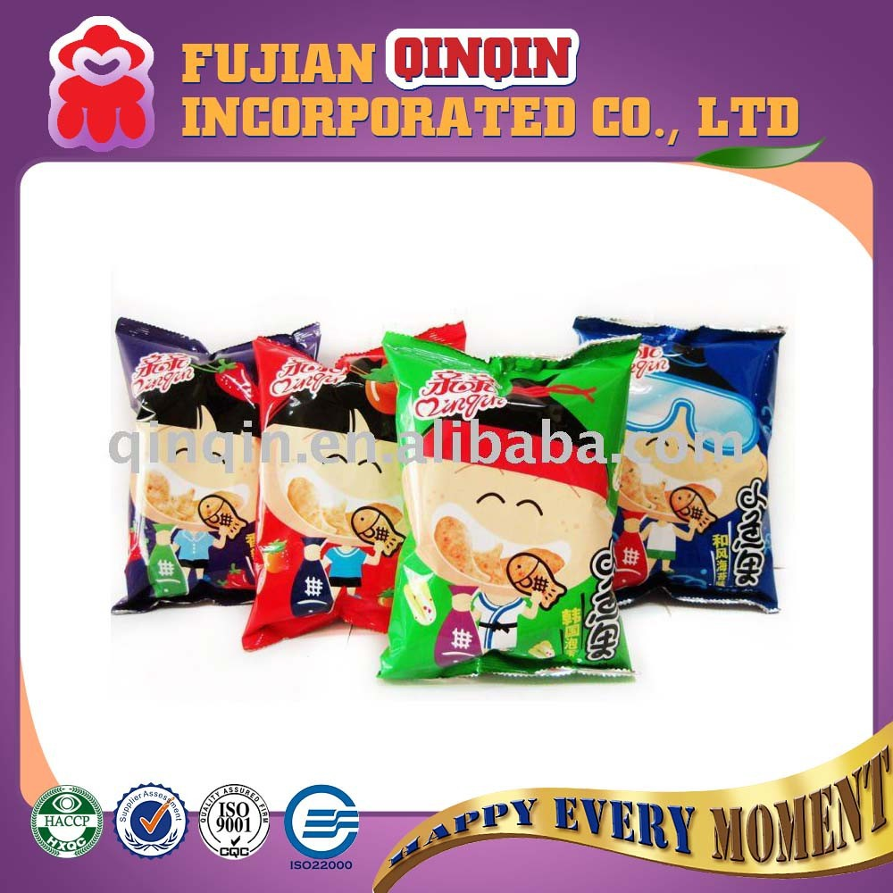 crisp fish shape dried various flavers halal prawn cracker