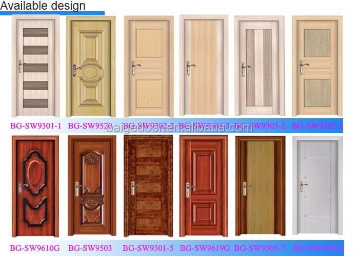 Bg sw501 bedroom wood room door gate metal door designs for Simple room door design