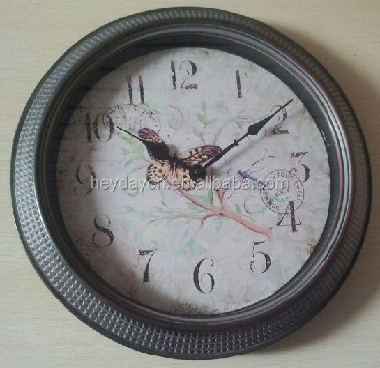 2016 new OEM/ODM plastic wall clock(HD-767)