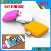 Newest One Time Use Emergency Phone charger 600mAh Disposable Power Bank for iPhone And Android
