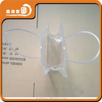 waterproof shopping clear pvc plastic bag with snap button