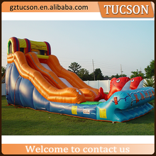 China wholesale giant inflatable water slide with pool for children