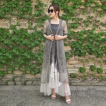Hangzhou Clothes Manufactures Lace Dress Fabric Silk Sexy Maxi Dress