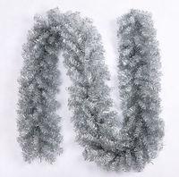 Silver Plastic Fiber Optic Artificial Christmas Garland, Holiday Decoration