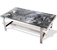zhaohui ZHDC233 polished stainless steel art deco coffee table