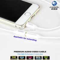CHOSEAL 3.5mm AUX Male to Female Audio Cable for iPhone, iPod/MP3, iPad, PC, Car Stereo