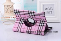 2015 New Scottish Tartan Plaid Grid 360 Rotation Folio Leather Case Stand Cover for iPad Air 2/iPad 6 9.7inch Tablet PC