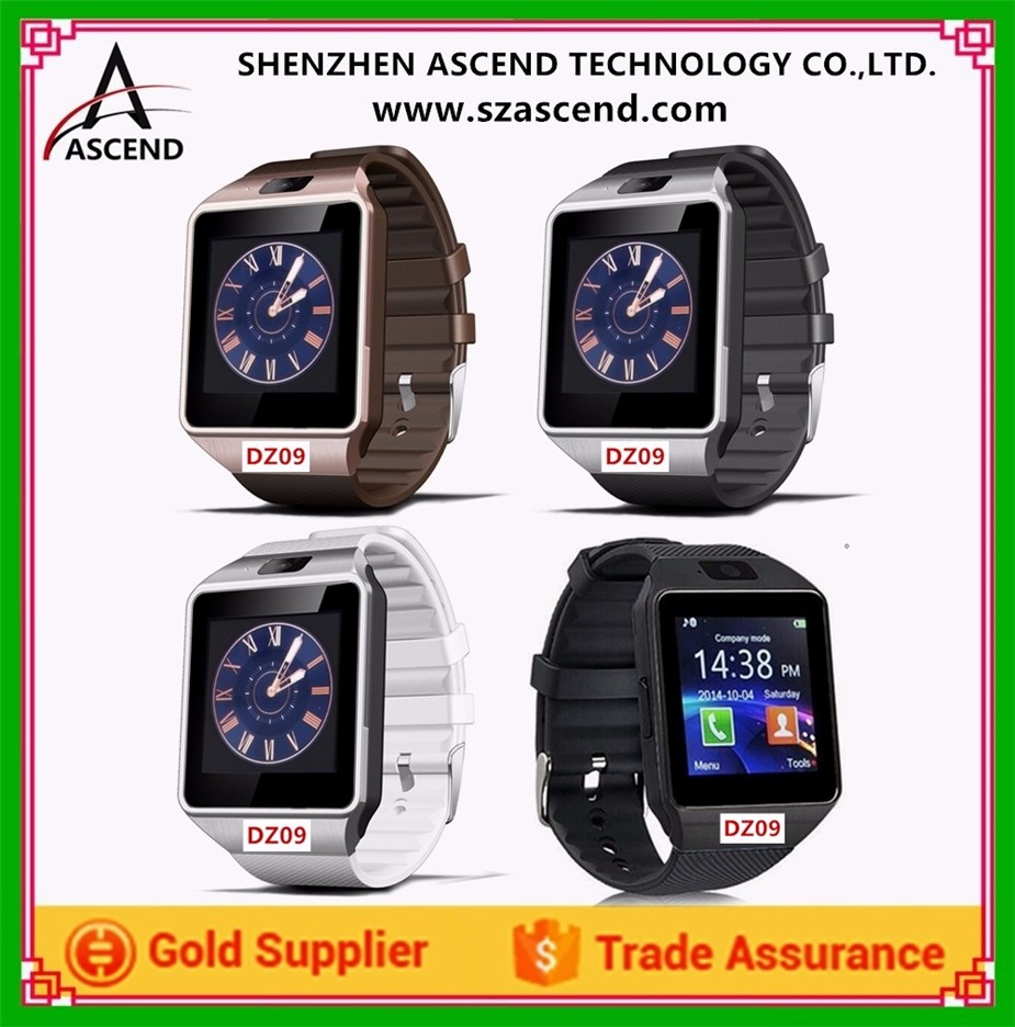 2017 Wholesale Mens Smart Watch DZ09, Android Smart Watch Support SIM card, Bluetooth, Whatsapp, Facebook