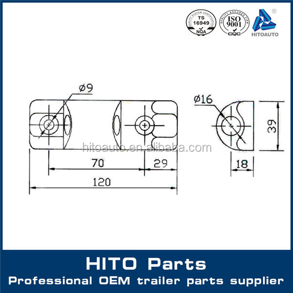 Heavy Duty Truck Side Door Hinge - Truck/Trailer Box