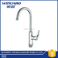 Polish and brass kitchen faucet for sink