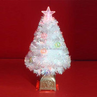 Inner Ball Decor Rainbow Film Fiber Optic Christmas Trees