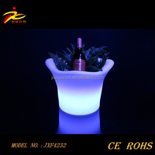 Buckets Type and ABS base, PE shell Material LED ice bucket