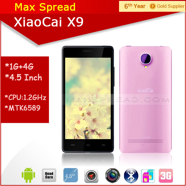 Hottest!! 5.0 inch dual sim quad core mtk6582 dual camear 8MP cheap xiaocai x9 android smartphone