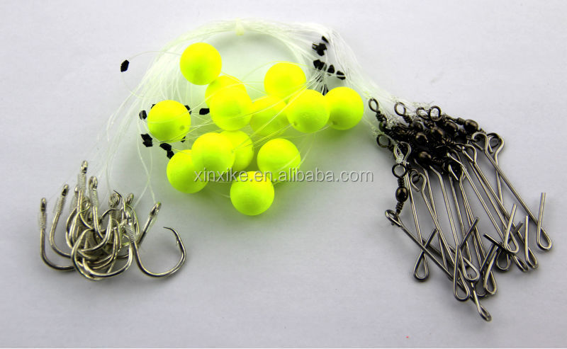 Premium fishing rig tied hook and ocean float ball for longline sea fishing