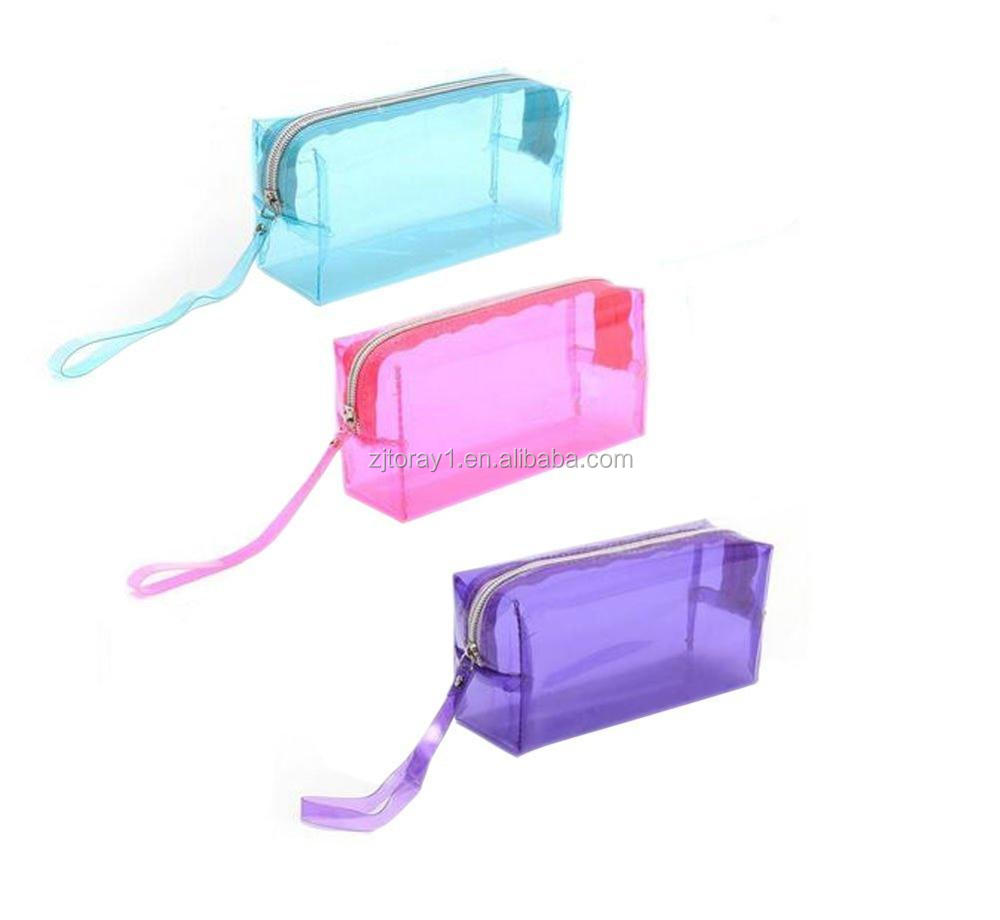 Multi Functional Zipper clear Cosmetic Pouch Bag
